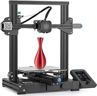 Stampante 3D Ender 3 V2, con Scheda Madre Silenziosa, Alimentatore Meanwell, Piattaforma in Vetro al Carborundum, Dimensio...
