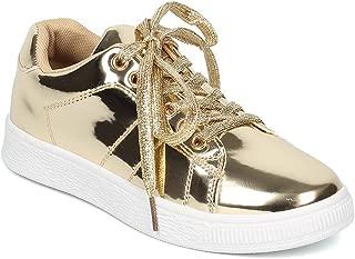 ANDI Women Mirror Metallic Lace Up Low Top Sneaker HB96