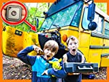 Found Secret Tracking Device Inside Abandoned School Bus (Spy Gadgets in Real Life)