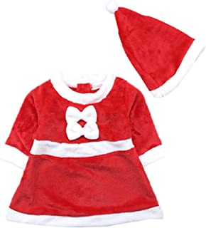 NOMSOCR Toddler Unisex Flannel Pajamas Set with Hat, Baby Christmas Sleepwear Dress Clothes