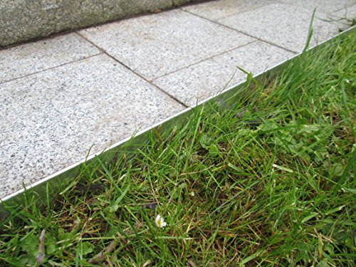 0816 Rasenkanten Metall Beeteinfassung Rasenkante verzinkt (Länge 15m-Höhe 18 cm)
