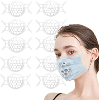 10Pcs 3D Face Mask Bracket Silicone Mask Bracket Breathe Cup for Mask Brace Cool Mask Inserts for Breathing Room Plastic M...