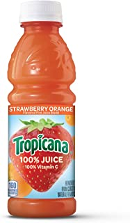 Tropicana Juice, Strawberry Orange, 10 Ounce (Pack of 15)