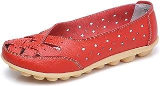 Vrouwen Lederen Mocassins Casual Slip On Loafers Platte Boot Schoenen Rijden Schoenen Maat 35-44