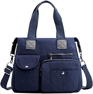 LIMING Large Capacity Nylon Backpack Multi-Pocket School Bag Waterproof Mommy Bag (Color : Dark Gray, Size : 34 * 13 * 32c...