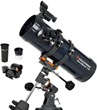 Celestron - AstroMaster 114EQ Newtonian Telescope - Reflector Telescope for Beginners - Fully-Coated Glass Optics - Adjust...