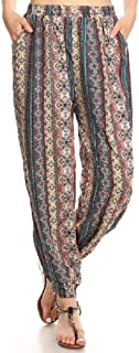 ShoSho Womens Loose Fit Harem Jogger and Palazzo Casual Pants