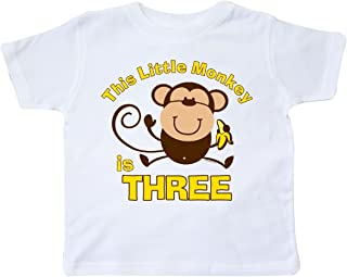 Little Monkey 3rd Birthday Boy Toddler T-Shirt