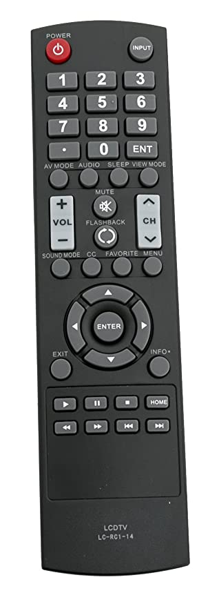 New Replace LC-RC1-14 Remote for Sharp TV LC-50LB370U LC-50LB371U LC-32LB370U LC-32LB370 LC-32LB261U LC-42LB261U LC-50LB261U LC-32LB150U LC-42LB150U LC-50LB150U LC-43LB371U LC-43LB370U