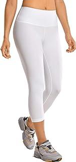 CRZ YOGA Mujer Compresión Mallas Largos Pantalones Deportivos Cintura Alta con Bolsillo-53cm