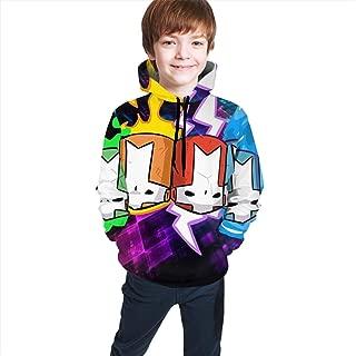 Unisex Youth Castle-C-Crashers Tops Hoodies Fashion Teenager Hooded Sweate Sweatshirts for Teen Boys/Girls