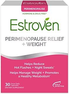 Estroven Perimenopause Relief + Weight Management Supplement - Helps Reduce Hot Flashes & Night Sweats - Helps Manage Weig...