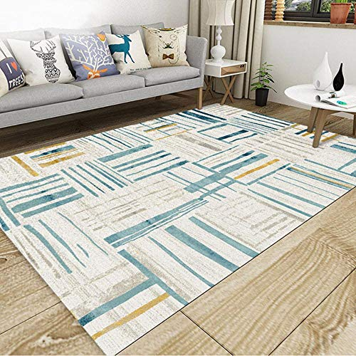 Meerdere Maten Geometrische Woonkamer Tapijt Vloermat Antislip Decoratief Tapijt Slaapkamer Studiekleden Moderne Tapijten Keuken Mat, 03,80x160cm