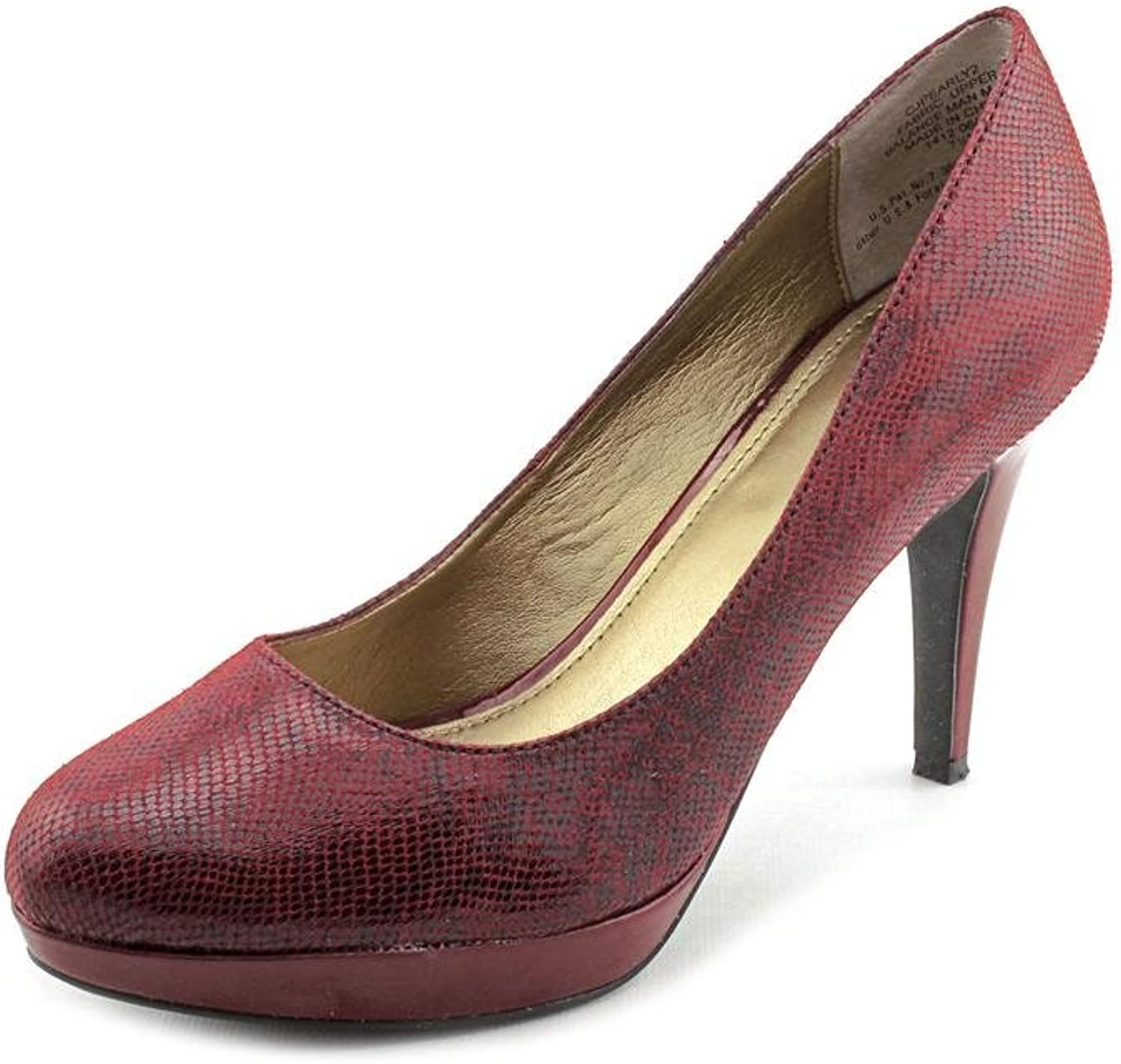 Circa Joan & David Pearly 2 Womens US Size 7 Red Fabric Pumps Heels shoes