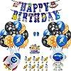 MANCY SHOP 宇宙テーマ バルーン 風船 誕生日 飾り付け パーティー ガーランド ケーキトッパー 宇宙飛行士 ロケット かわいい 男の子