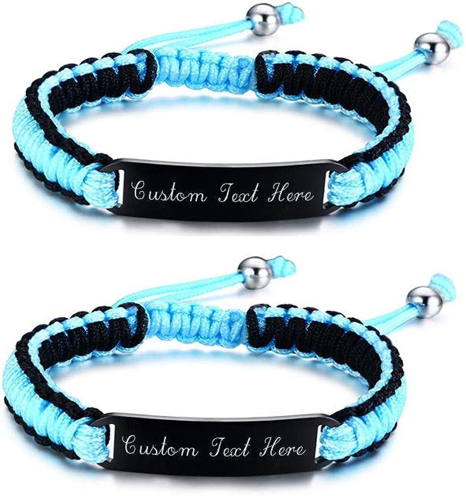 ID bracelet men cord bracelets cord bracelet personalized string bracelet women Adjustable ID bracelets letter bracelets for kids
