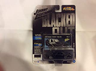 1973 Pontiac Firebird Trans Am Gloss Black with Silver Bird on Hood Blacked Out Limited Edition to 3,700 Pieces Worldwide 1/64 Diecast Model Car by Johnny Lightning JLSF009/ JLCP7120