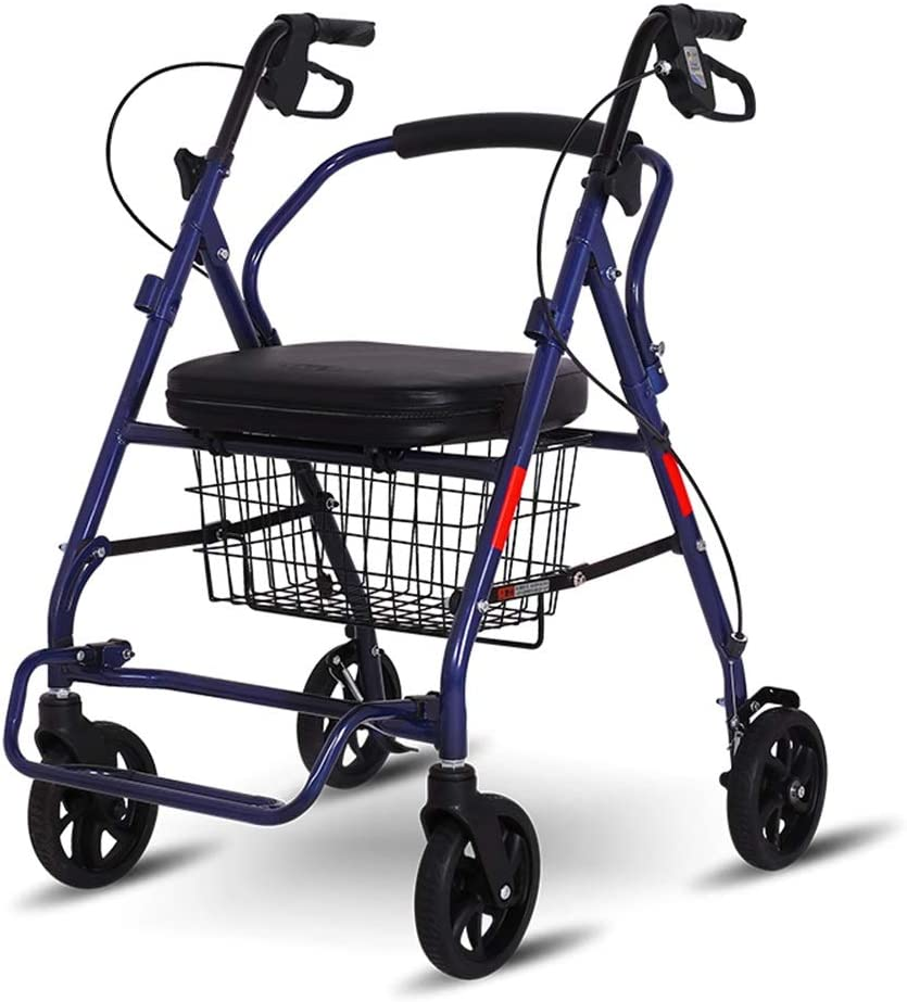 AGYQGOO Rollator Walker Upright Port SEAL limited product Four-Wheeled Tulsa Mall