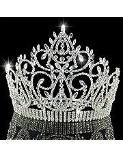 CHuangQi Corona e diadema della Regina Miss World della Regina di Grande Spettacolo del Cristallo di Imitazione del Diamante di Alta Imitazione