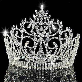 CHuangQi Corona e diadema della Regina Miss World della Regina di Grande Spettacolo del Cristallo di Imitazione del Diaman...