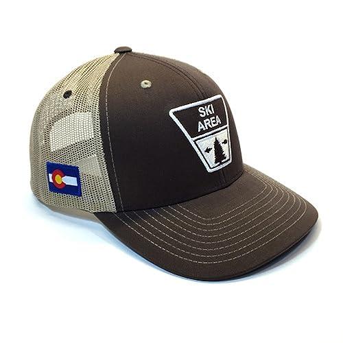 YoColorado Ski Area Sign Colorado Trucker Hat 29f827f3e51