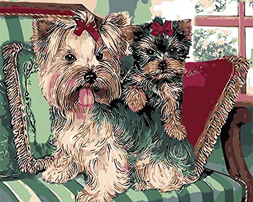 aoyudf Puzzles Rompecabezas Adultos Niños Wooden 1000 Piezas Cada Pieza Es Unica Tecnología Jigsaw Rompecabezas Juego Decoraciones hogar Perro en el sofá-50x75cm
