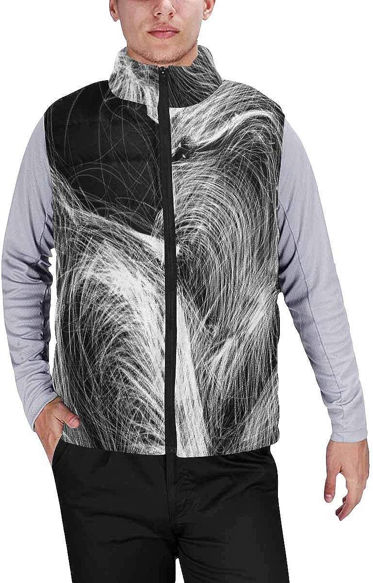 InterestPrint Men's Full-Zip Soft Warm Winter Outwear Vest Jazz Saxophone Player Jazz Musician Saxophonist S