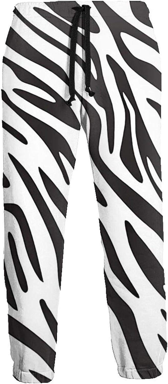 Men's Women's Sweatpants Zebras Print Stripes Athletic Running Pants Workout Jogger Sports Pant