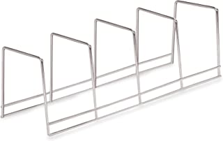 Better Houseware 4-Section Plate Rack, Large, Chrome