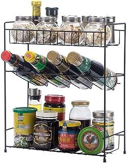 ZXZJ Spice Rack 3 Couche Cuisine Étagère de Rangement ÀÉpices Étagères Armoire Armoires Slip Épices Herbes Bottling Cuisin...