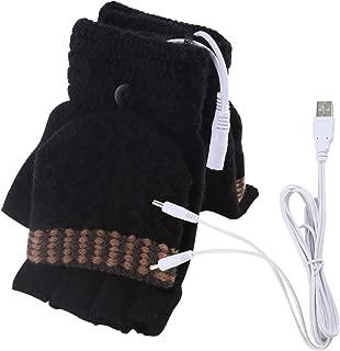 Unisex Women's & Men's USB Heated Gloves Mitten Winter Hands Warm..