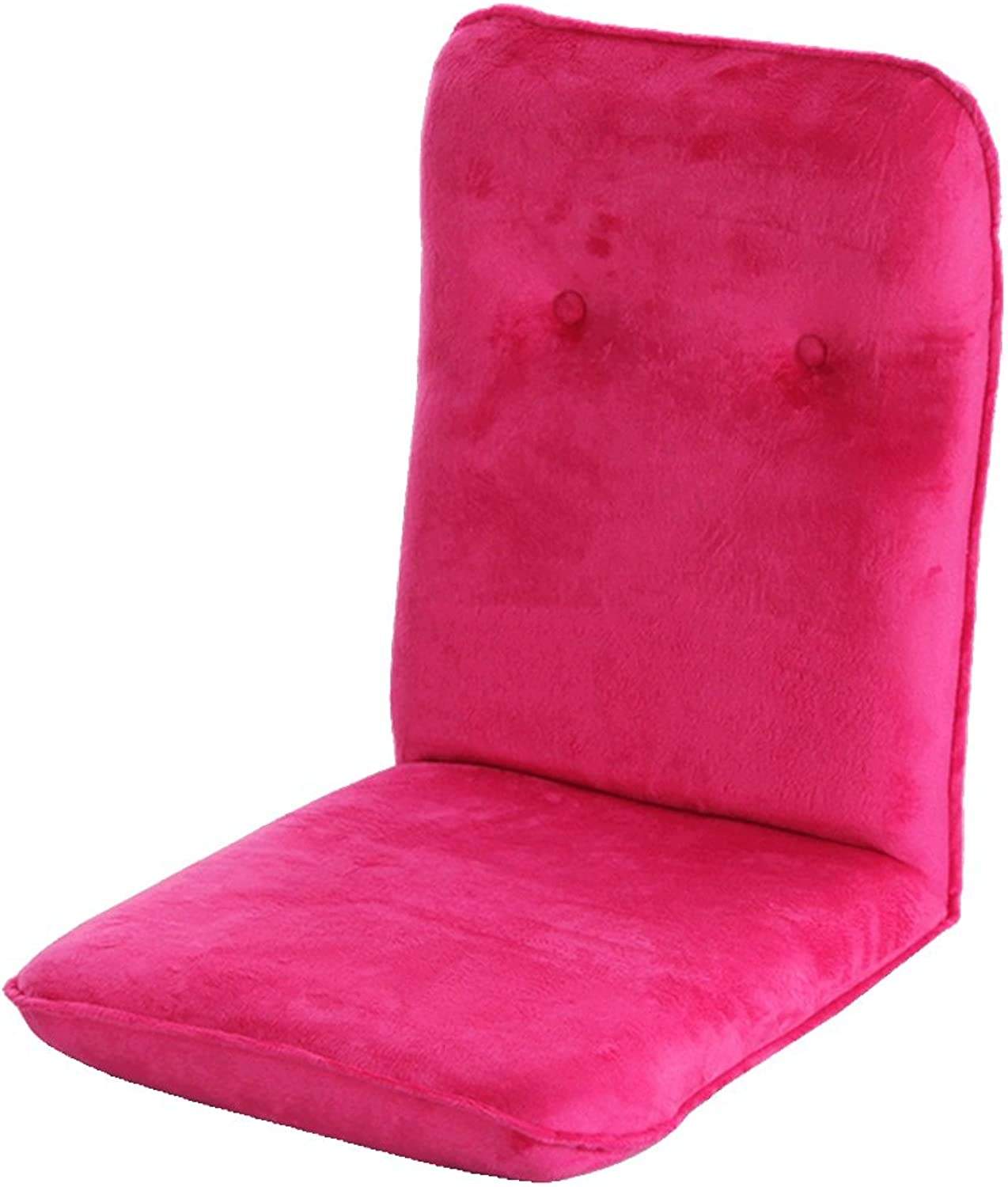 MAHZONG Recliners Folding Lazy Sofa Bedroom Chair Living Room Fabric Sofa Bed (color  Pink, Purple) (color   Pink)