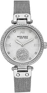 Anne Klein New York Silver-Tone Mesh Ladies Watch with Swarovski Crystals
