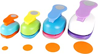 Circle Punch 5/8+1+1.5+2 inch Craft Lever Punch Handmade Paper Punch Candy Color by Random(Candy Circle)