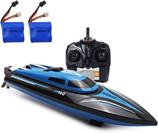 SZJJX RC Boat 2.4GHz 4 Channels Remote Control Electric Racing Boat 100 (Blue)