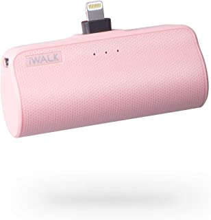 iWALK 3350 mAh bärbar kompakt inbyggd anslutningsdockning externt batteripaket Power Bank laddare kompatibel med iPhone 1...