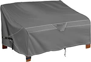 iKover Heavy Duty Patio Bench Loveseat Cover, 100% Waterproof Outdoor Sofa Cover, Lawn Patio Furniture Covers,Provide a Great fit and All Weather Protection. (Grey,79.9 Inch)
