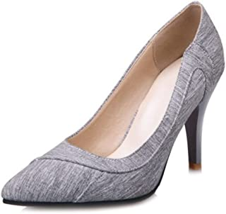 Smilice Women Court Shoes with Pointed Toe and Thin Heel Formal Shoes