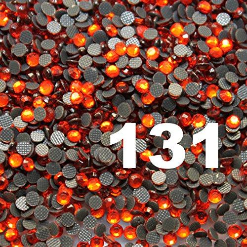 1000 Strass thermocollant Rhinestone Hotfix [Ø2mm s06] Orange N° 131