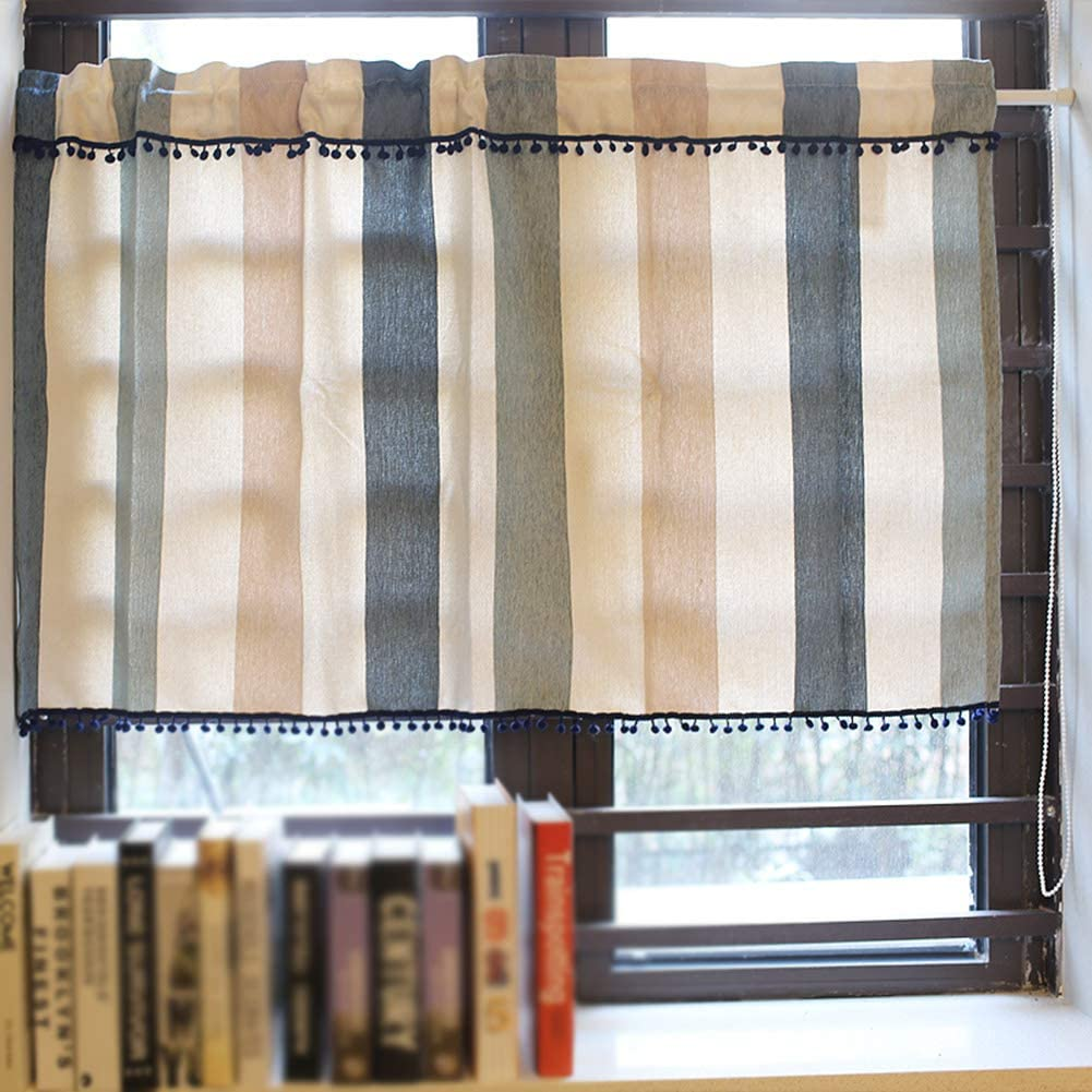 Tier Curtain for Save money Small Windows Valan Limited time cheap sale Curtains Cafe Kitchen Short