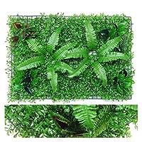 人工植物の芝生のDIYの背景の壁シミュレーション草の葉の結婚式の家の装飾グリーンカーペット芝オフィスの装飾 (サイズ : 11)