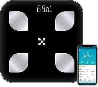 Báscula de grasa corporal para equilibrar el peso corporal digital báscula electrónica inteligente para baño de grasa corporal báscula de porcentaje de grasa para analizador de cuerpo, color negro