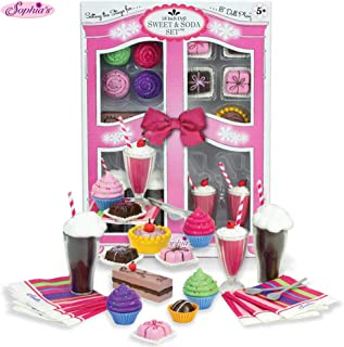 Sophia's Complete 27 PC Doll Accessory Food Set, 15 Sweet Treats & Spoons & Paper Napkins, 18