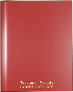 Nicky's Communicator Folder (Pack of 50), Flexible Plastic Folder for Letter Size Papers (Red)