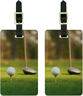 Graphics & More Ball Club-Golfing Luggage Tags Suitcase Carry-on Id, White