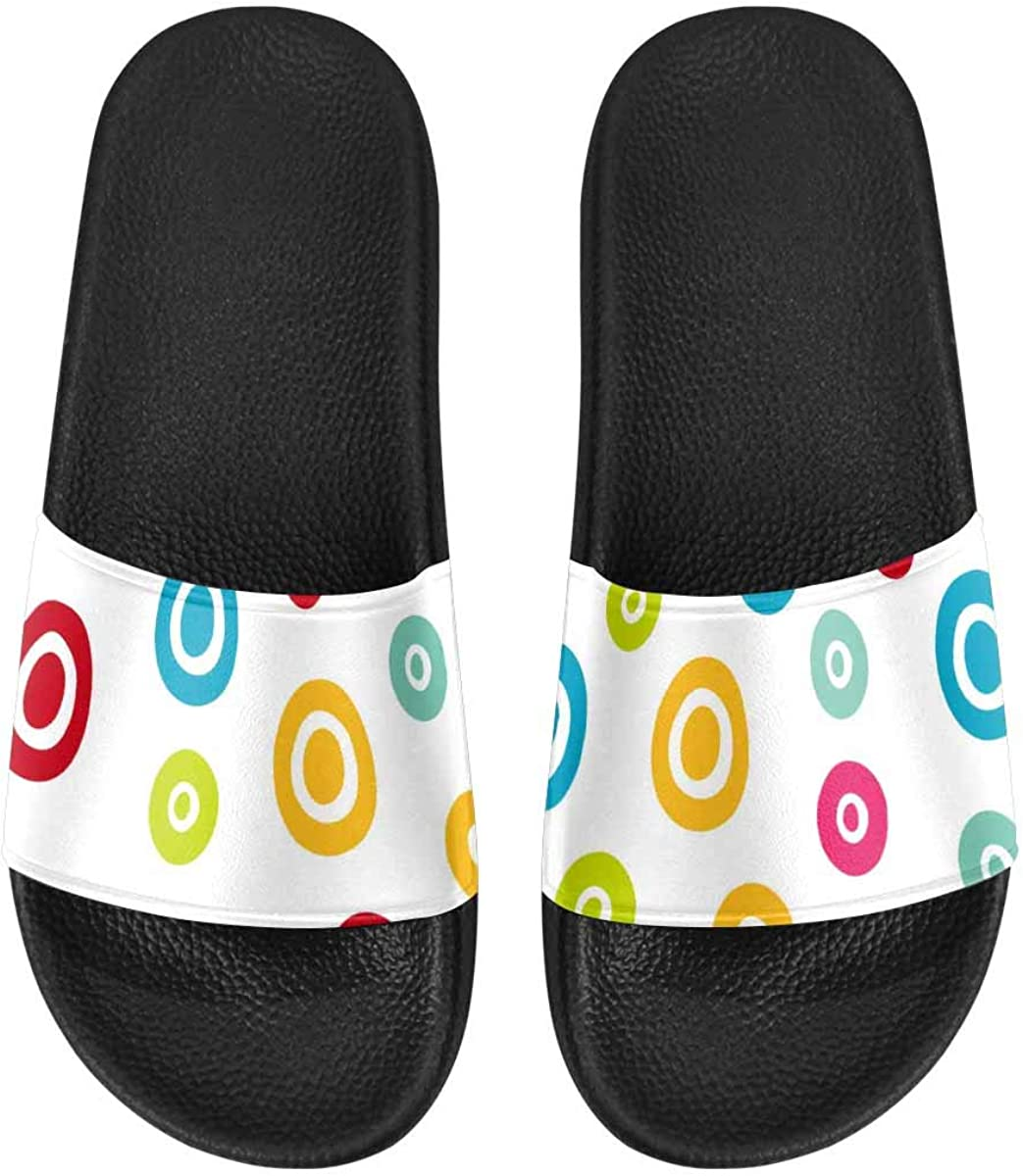 InterestPrint Women's Casual and Lightweight Slipper Sandals for Home Carpet Border Frame Pattern