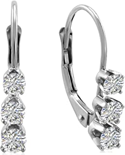 Best leverback diamond earrings Reviews