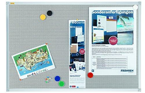 Franken PM3602 Textiltafel Pin und Mag 90 x 60 cm, grau