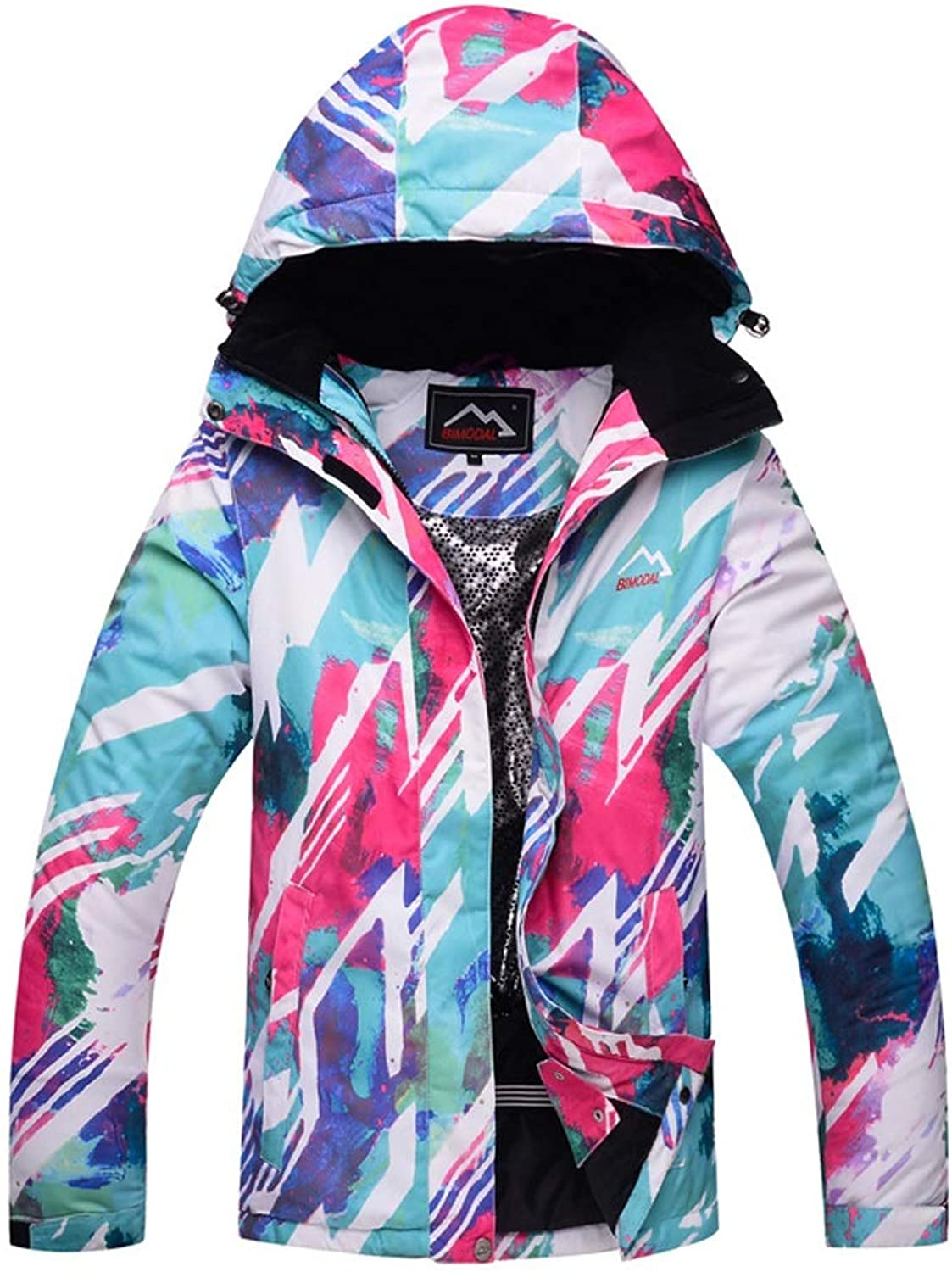 AUSWIEI Women's Windproof Ski Jacket Outdoor Warm Snowboard