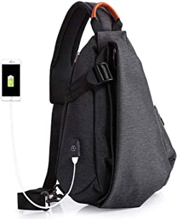 Multifunction Fashion Crossbody Bags Men USB Charging Chest Pack Short Trip Messengers Bag Water Repellent Shoulder Bag